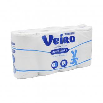 Туалетная бумага, Veiro, 2 слоя, 8 рулонов