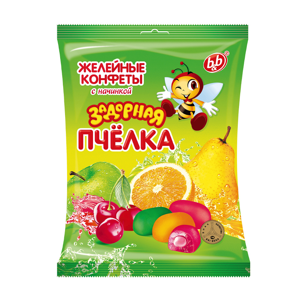 """Конфеты желейные """"Задорная пчёлка"""" микс, 300 г"""
