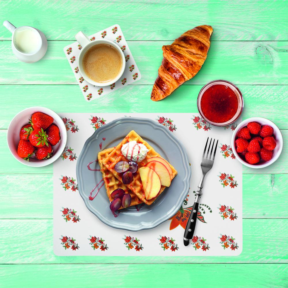 Набор, O'Kitchen: салфетка и подставка под чашку, в ассортименте