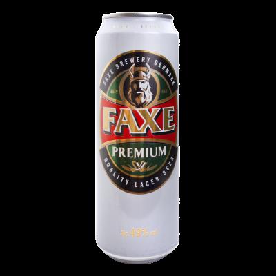 Пиво, Faxe, 4,9%, 0,45 л