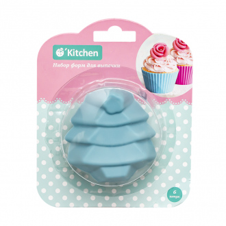 Набор форм для кексов и маффинов, O'Kitchen, 6 шт.