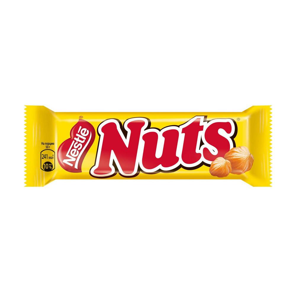 Шоколадный батончик, Nuts, 50 г