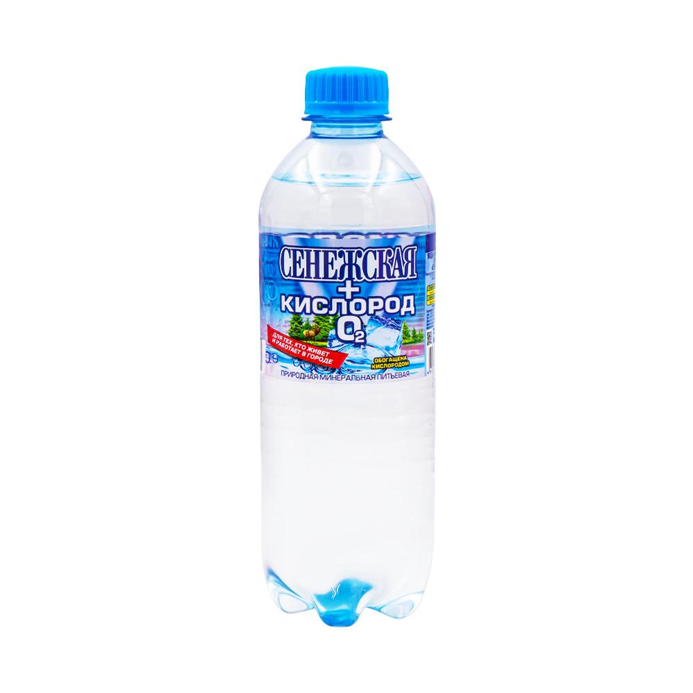 """Вода минеральная питьевая столовая """"Сенежская+кислород"""", 0,5 л"""
