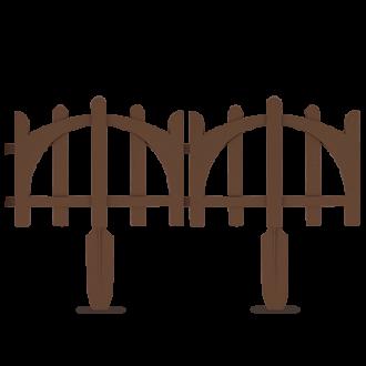 Забор садовый декоративный, 60х24 см