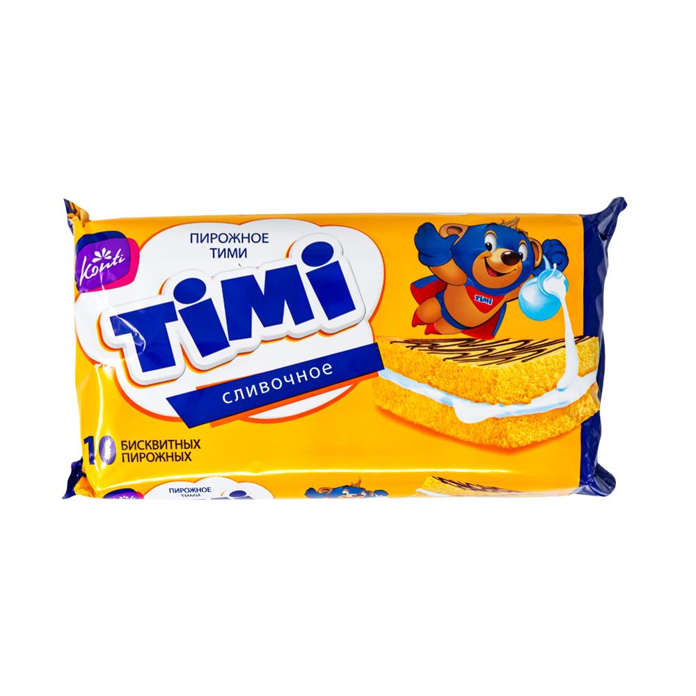 """Пирожное бисквитное """"Тими"""" сливочное, 300 г"""