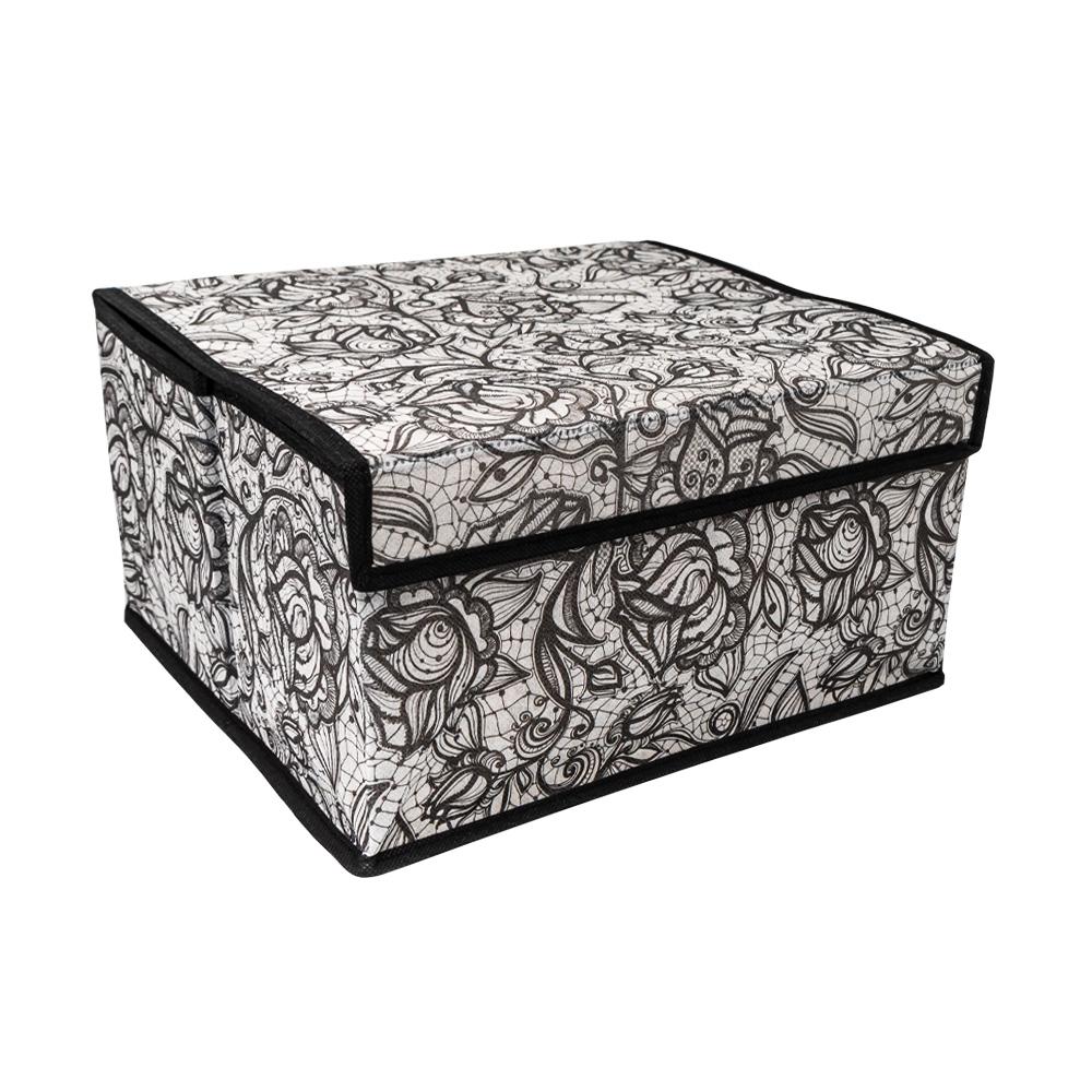 Коробка с крышкой складная, Home Time, 28х30х16 см, в ассортименте