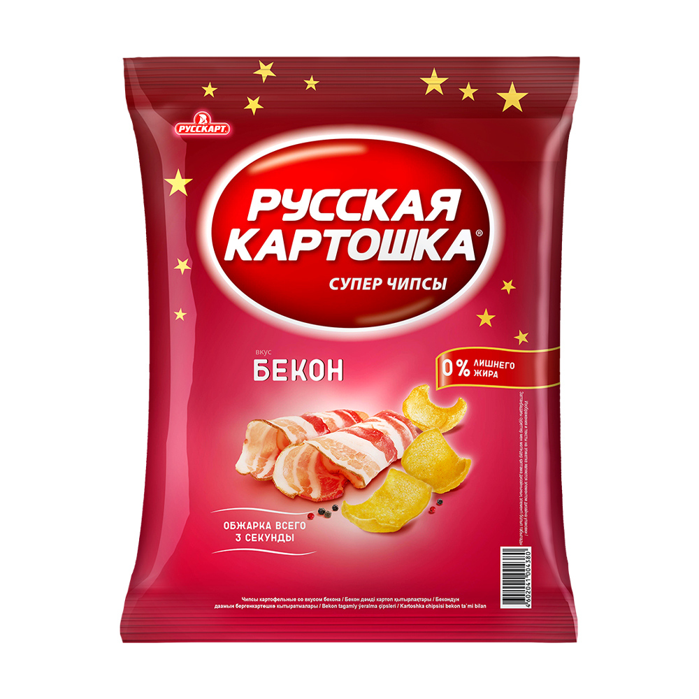 Чипсы, Русская картошка, 120 г, в ассортименте