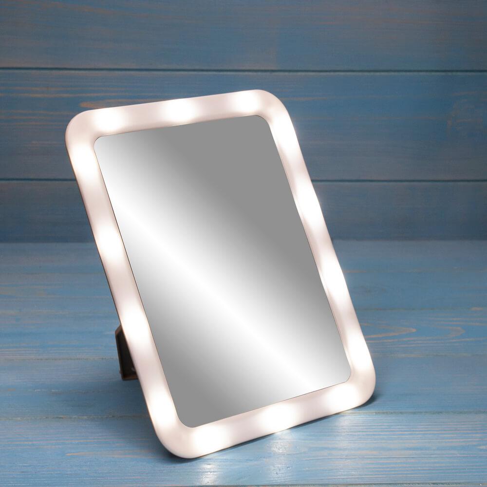 Зеркало настольное с подсветкой, Lovely, в ассортименте