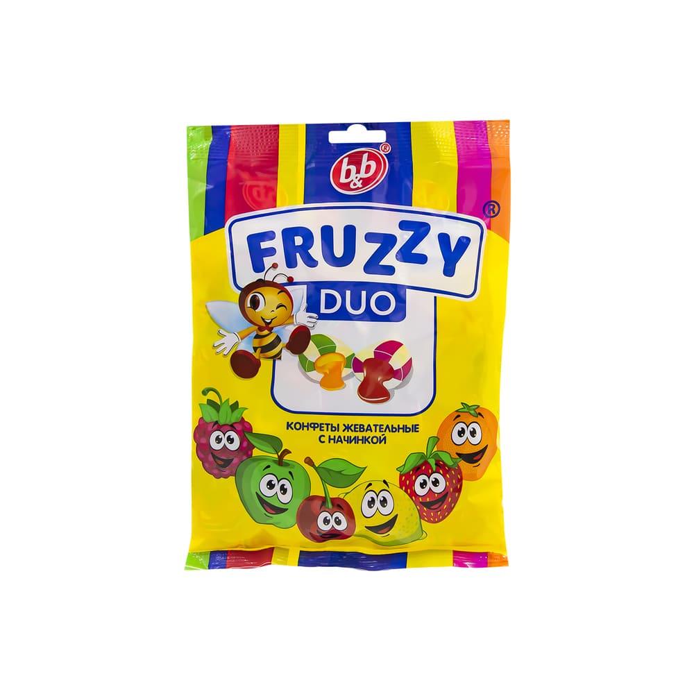 Жевательные конфеты, Fruzzy Duo, с начинкой, 300 г
