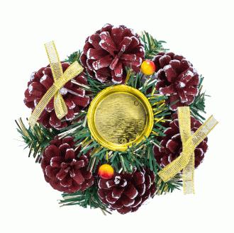 Подсвечник новогодний, 15 см: купить в Москве и РФ, цена, фото, характеристики