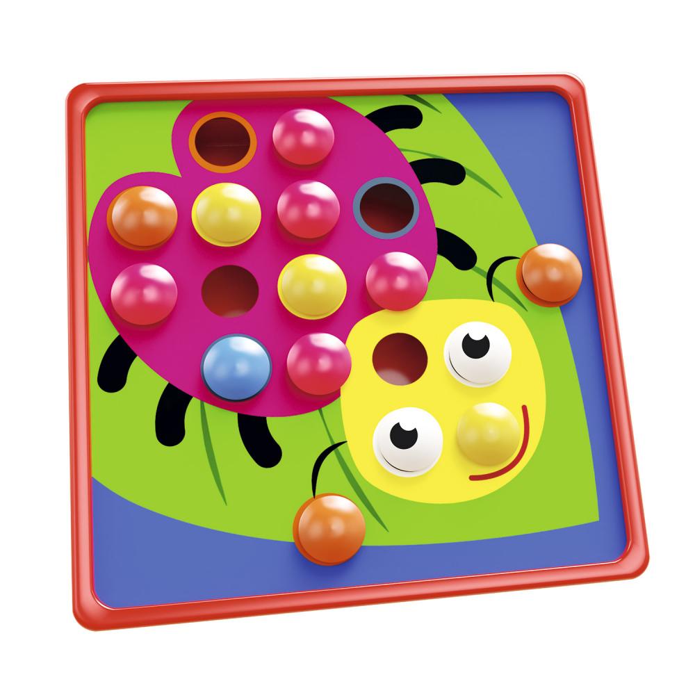 Настольный пазл с цветными кнопками
