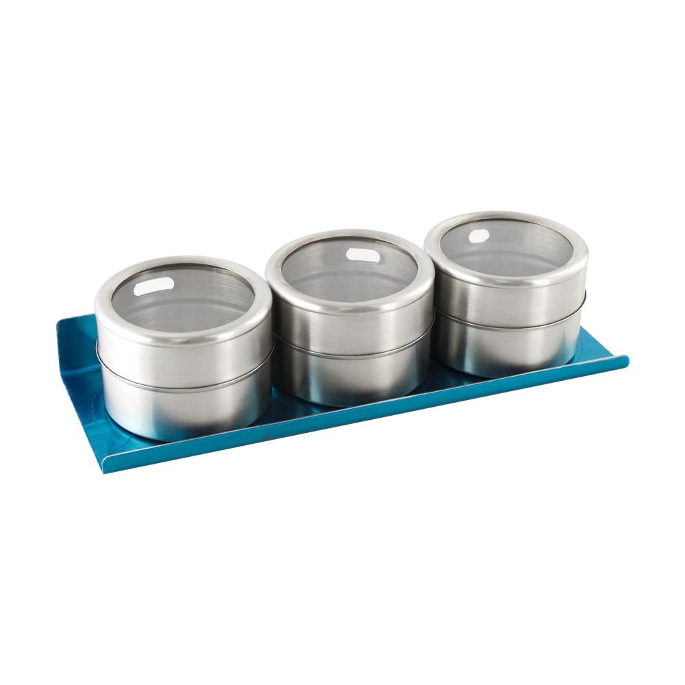 Набор для специй из 3-х магнитных банок