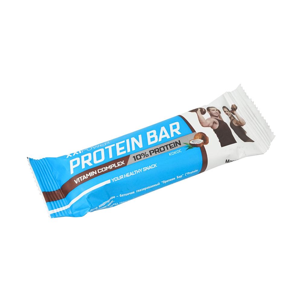"""Батончик глазированный """"Protein Bar"""", XXI Power, кокос, 50 г"""