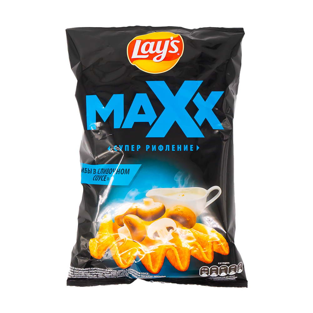"""Картофельные рифлёные чипсы, Lay's, """"Maxx"""" 110 г, в ассортименте"""