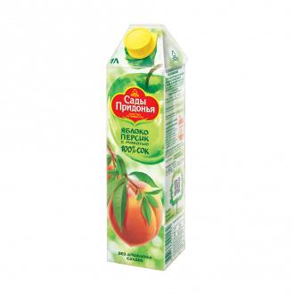 Сок, яблоко-персик, 1 л, ЛК: 1540114: купить в Москве и РФ, цена, фото, характеристики