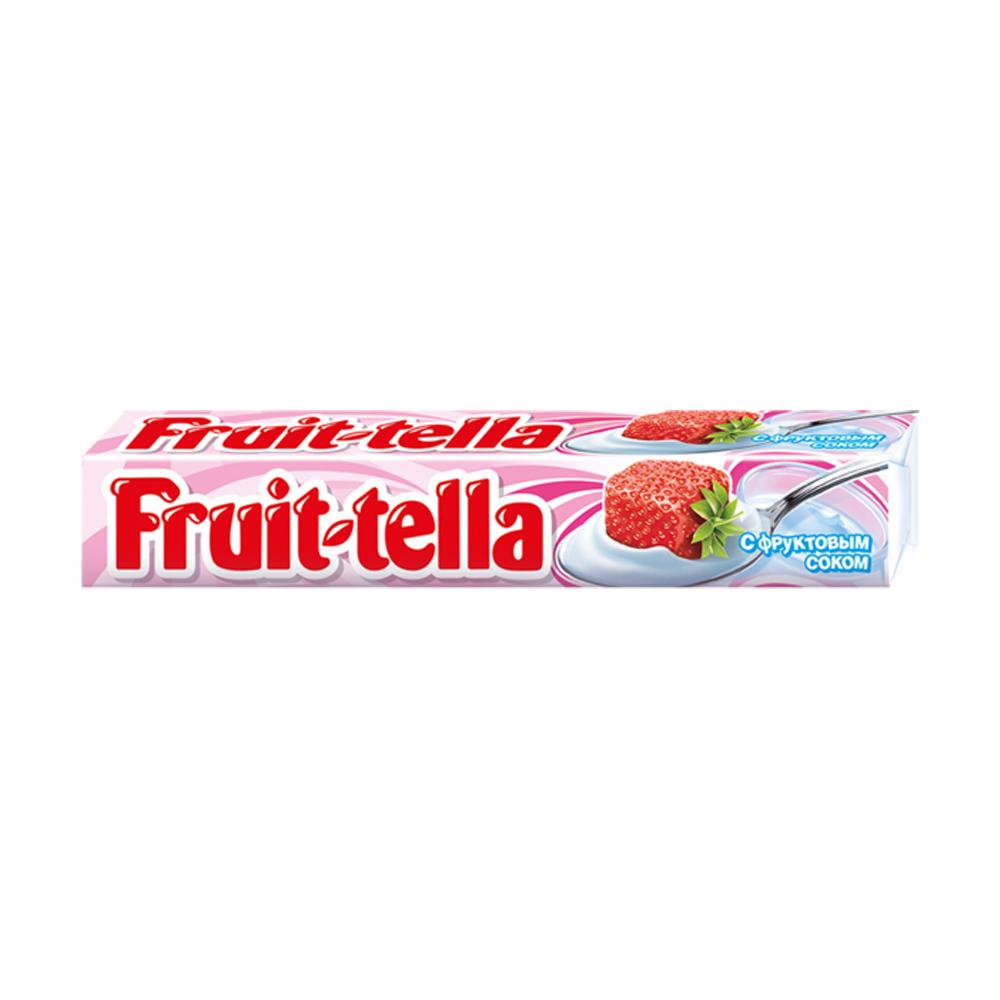 Конфеты жевательные, Fruittella, клубника-йогурт, 41 г