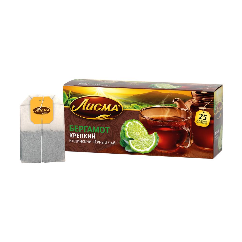 """Чай чёрный """"Бергамот"""", Лисма, 25 пакетиков, 37,5 г"""
