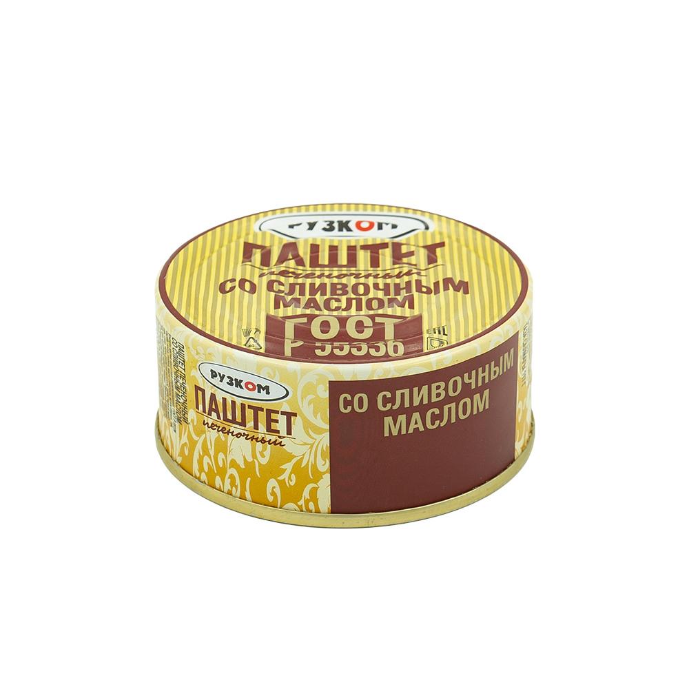 Паштет печёночный, Рузком, со сливочным маслом, 117 г