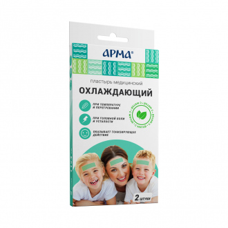 Пластырь медицинский охлаждающий, 2 шт., в ассортименте