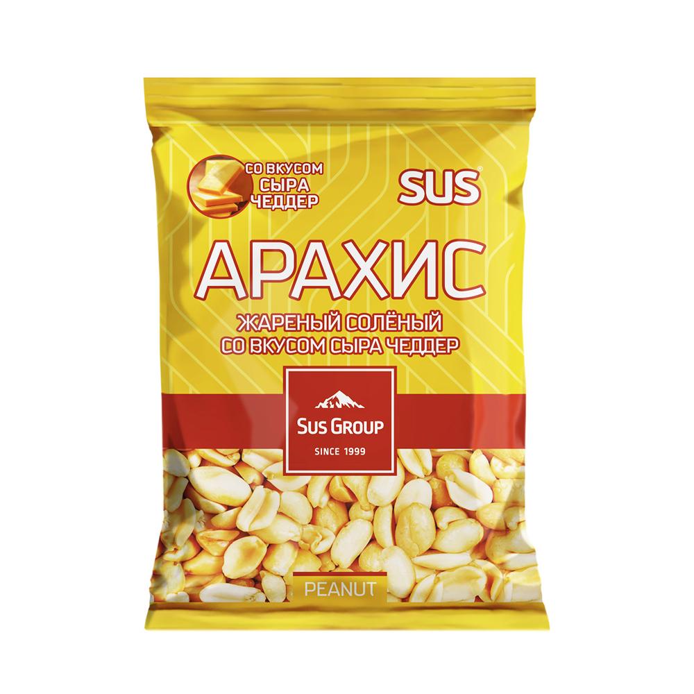 Арахис жареный солёный, Sus Group, со вкусом сыра Чеддер, 90 г