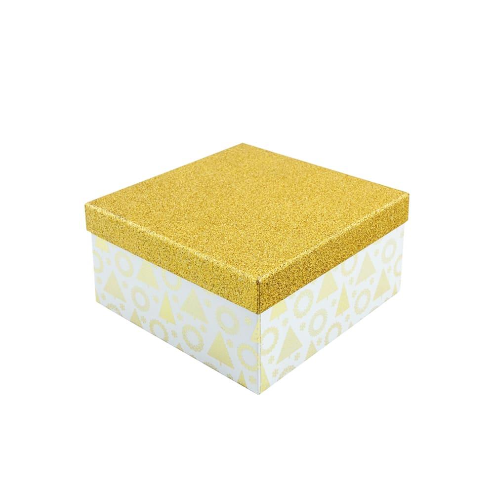 Коробка подарочная новогодняя, Снежное кружево,15х15х8 см, в ассортименте