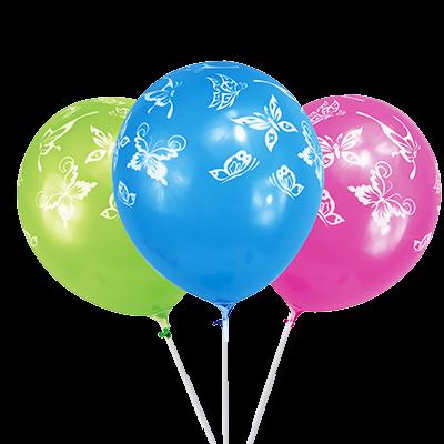 Шарики воздушные, Party, 6 шт., в ассортименте