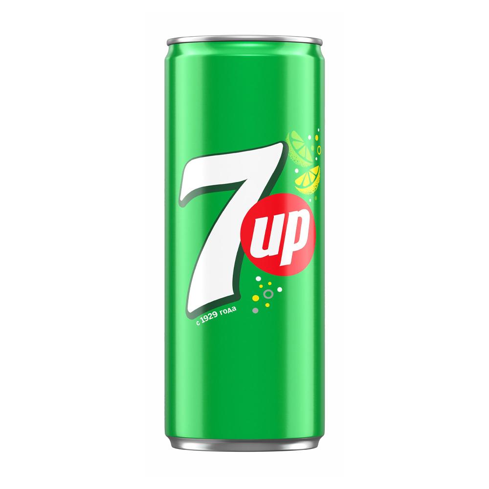 Напиток сильногазированный, 7UP, 0,33 л