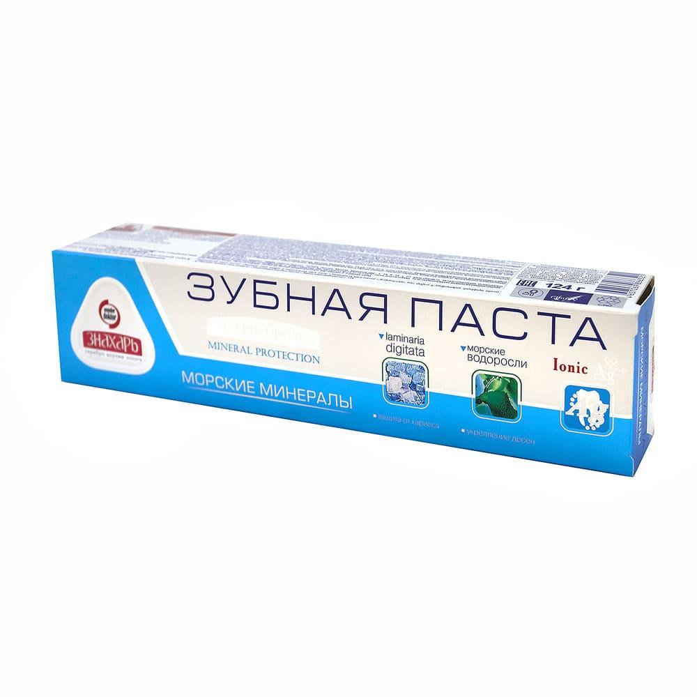 Зубная паста Знахарь с серебром, 124 г