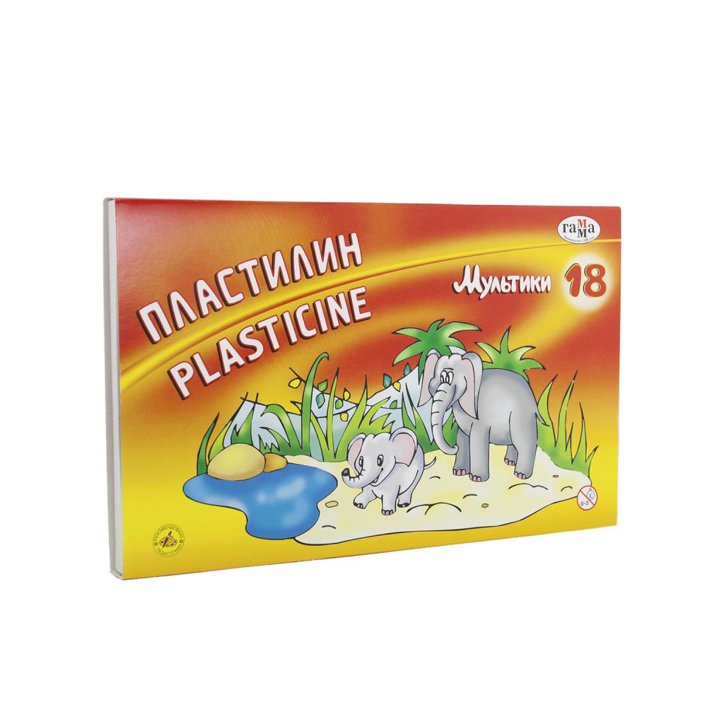 Пластилин «Мультики» + стек, 18 цветов