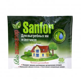 Средство для выгребных ям Sanfor, 40 г, ЛК: 3022021: купить в Москве и РФ, цена, фото, характеристики