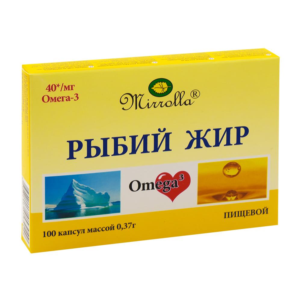 """БАД """"Рыбий жир Плюс"""", Mirrolla, 100 капсул по 370 мг"""