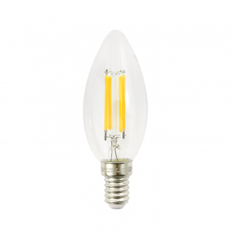 Лампа светодиодная филаментная, Старт, Candle, 8 Вт, E14