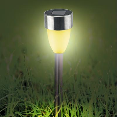 Светильник садовый на солнечных батарейках, 36 см