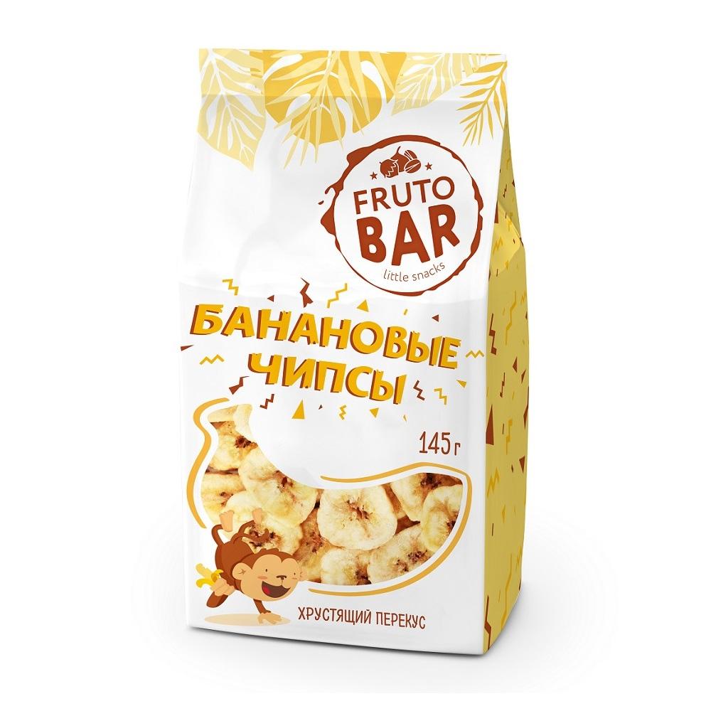 Банановые чипсы, Fruto Bar, 145 г