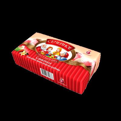 """Мороженое """"Семейное"""", Айсберри, брикет трехслойный ваниль/шоколад/клубника, 220 г"""