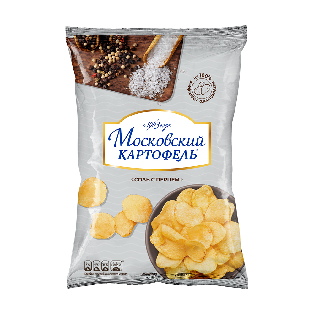 Чипсы, Московский картофель, 60 г, в ассортименте