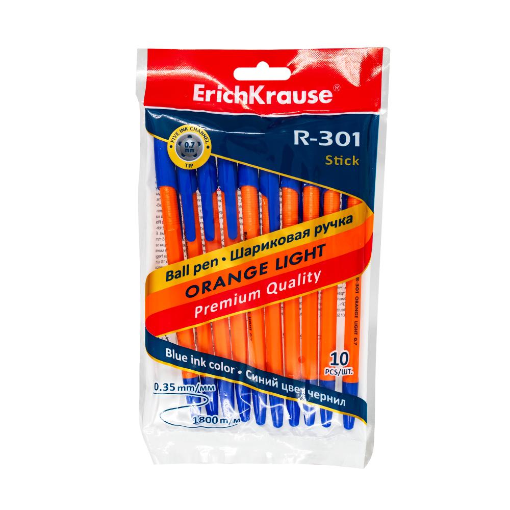 Ручка шариковая, ErichKrause, синий, 10 шт.