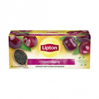 Чай чёрный со вкусом ягод, Lipton, 25 пакетиков, 37,5 г, в ассортименте