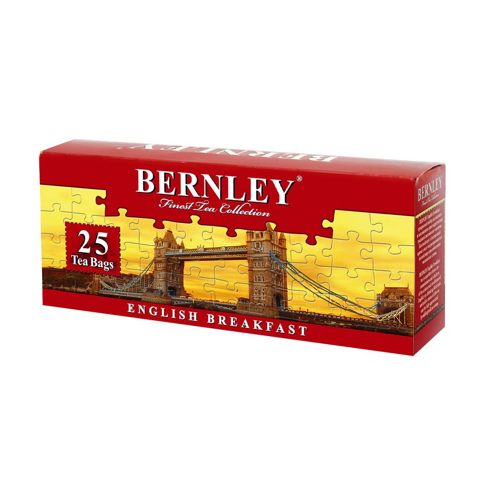 """Чай черный """"English Breakfast"""", Bernley, 25 пакетиков"""