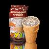 """Мороженое в стаканчике """"Кузя"""", Кузя Лакомкин, ванильное с шоколадной крошкой, 70 г"""