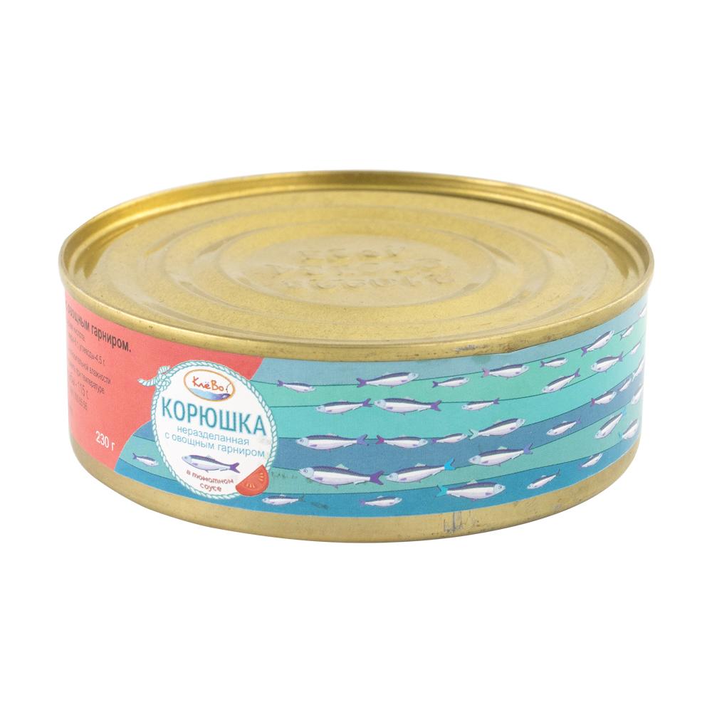 Корюшка с овощным гарниром в томатном соусе, КлёВо, 230 г