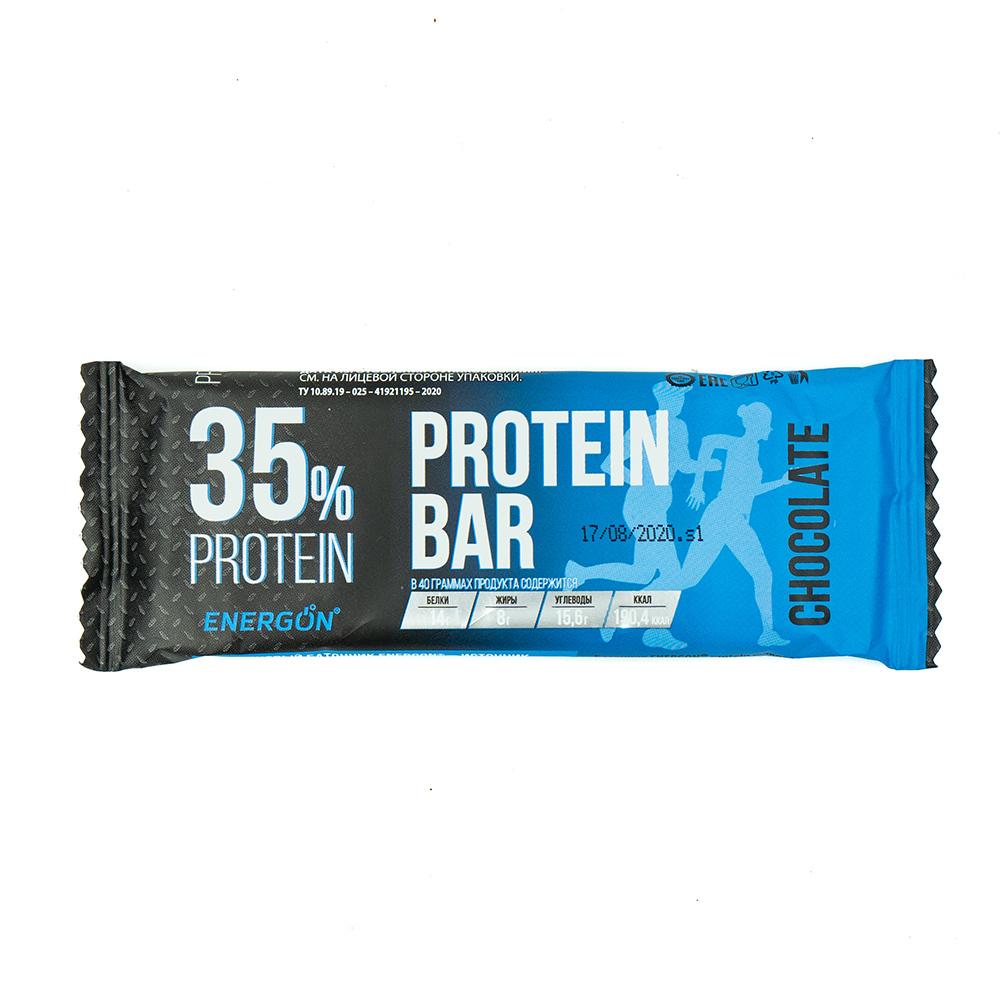 Батончик, ENERGON, 35% protein, шоколад, 40 г
