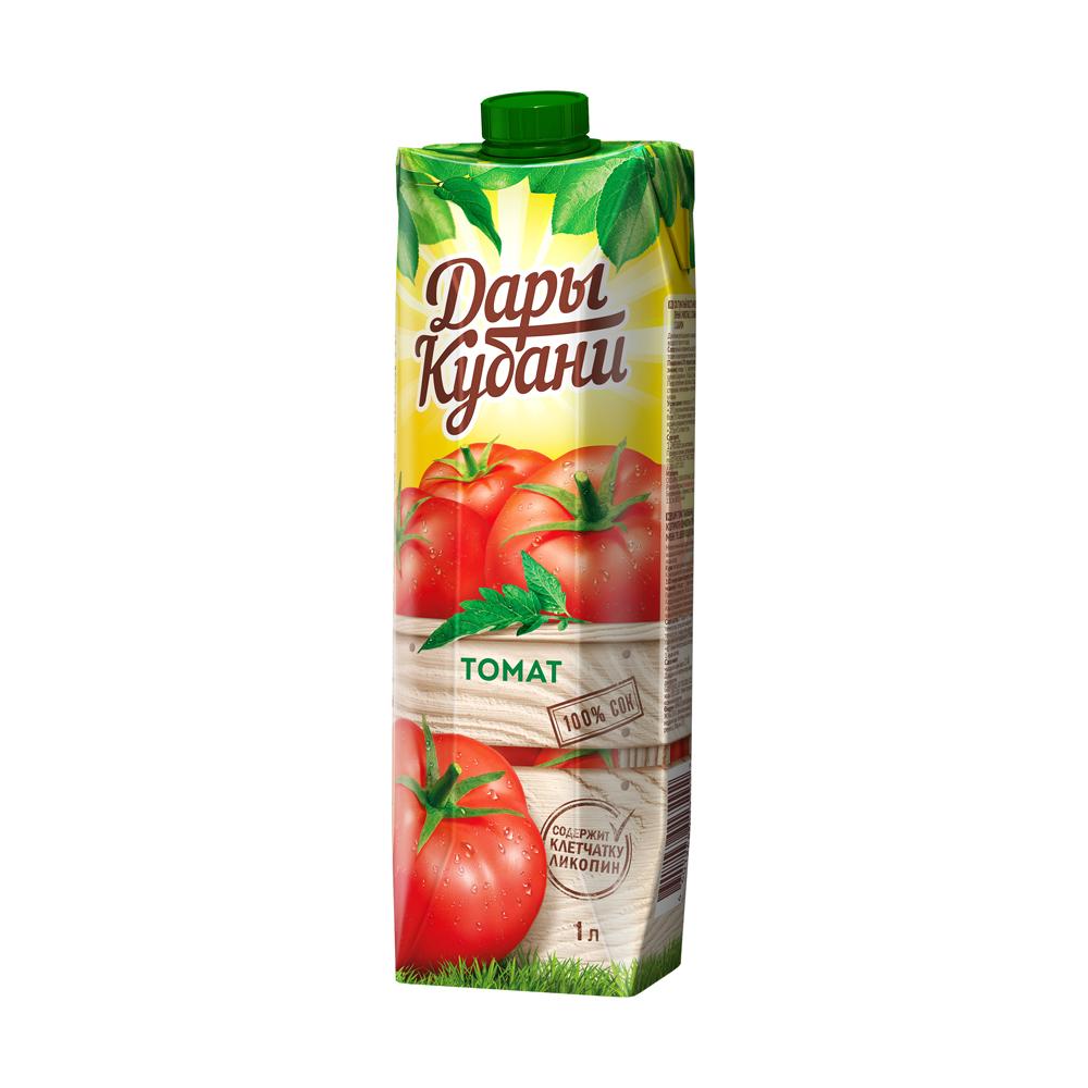 Сок, Дары Кубани, томат, 1 л