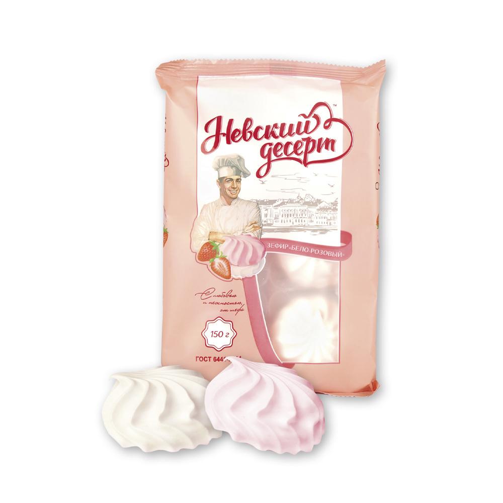 """Зефир """"Невский десерт"""" бело-розовый, 150 г"""