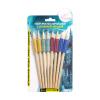 Набор простых карандашей с резиновой насадкой, 8 шт., в ассортименте