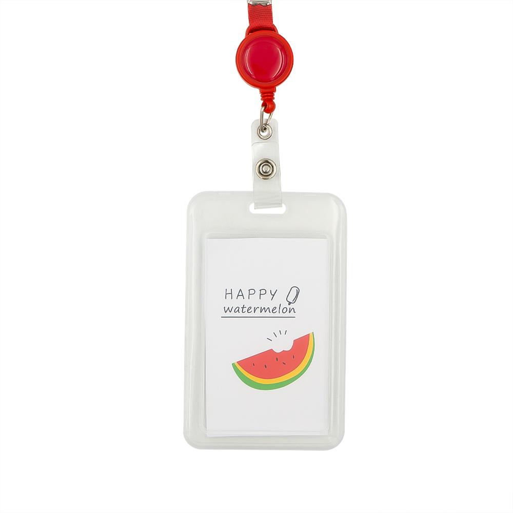 Держатель для пропуска и пластиковых карт на рулетке, в ассортименте
