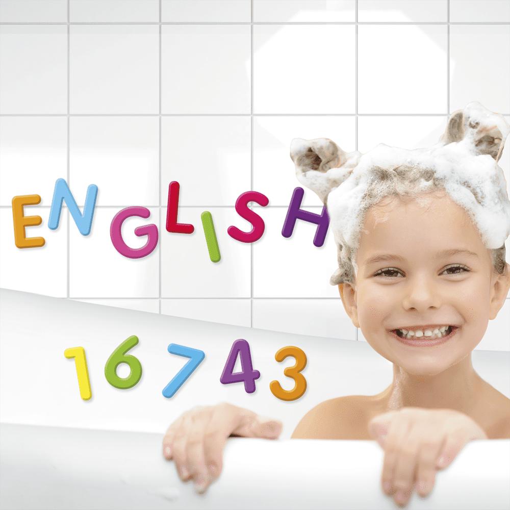 Игровой набор «Буквы и цифры для ванной»