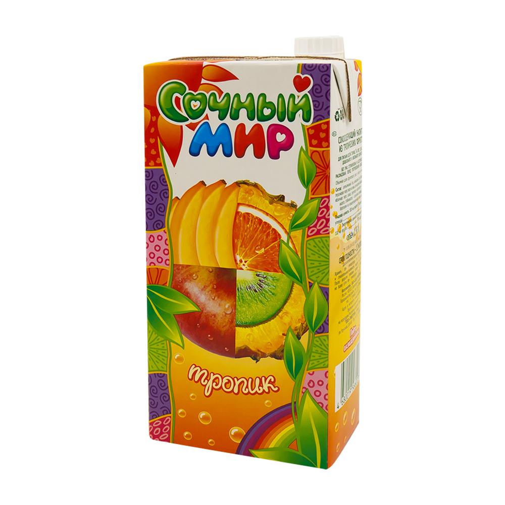 Напиток сокосодержащий, Сочный Мир, тропик, 1,93 л