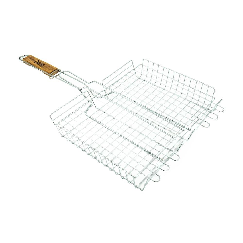 Решетка для барбекю, Greenart, 25х32х5,5 см, ручка 33 см