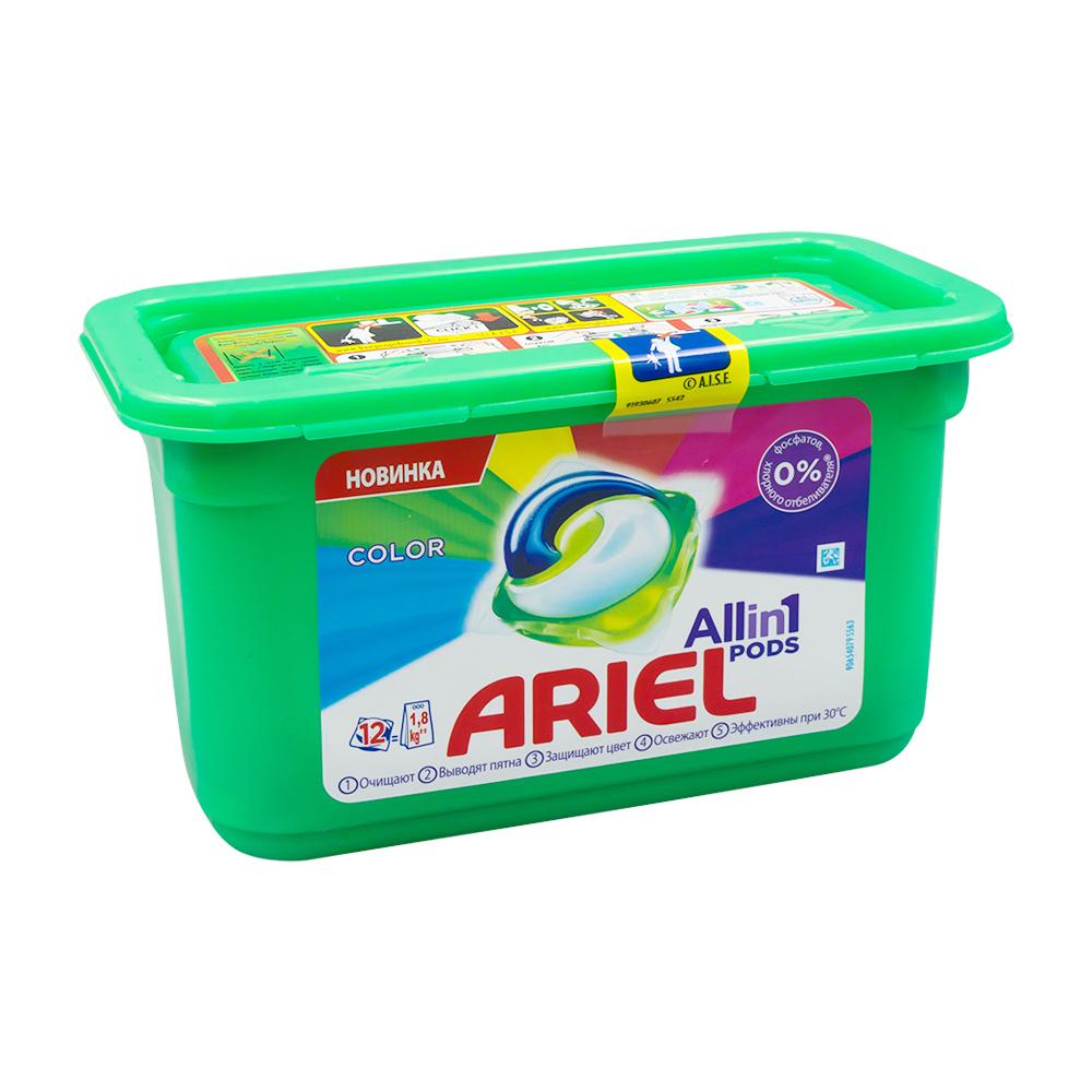 Стиральный порошок, Ariel, в капсулах, 12х27 г